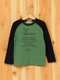 【SALE/50%OFF】FORTYONE FORTYONE/(K)ハピネスプリントTシャツ フォーティワン カットソー キッズカットソー グリーン ブラック ホワイト