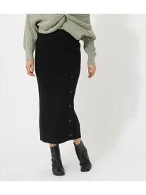 【SALE/50%OFF】AZUL by moussy HEMBUTTONKNITMIDISKIRT/ヘムボタンニットミディスカート アズールバイマウジー スカート スカートその他 ブラック ホワイト