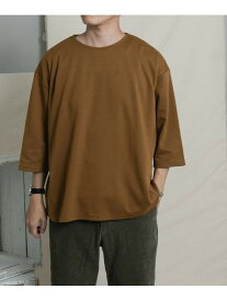 【SALE/66%OFF】ITEMS TCポンチ7分袖ビッグTシャツ アーバンリサーチアイテムズ カットソー Tシャツ ブラウン ブラック グレー カーキ