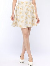 グレン花柄スカートパンツ