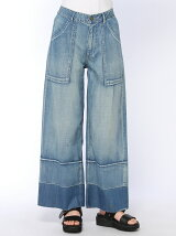 (L)裾リメイク9分丈バギーパンツ