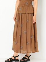ROSE刺繍ロングスカート