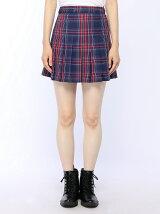 【BROWNY STANDARD】(L)チェックプリーツミニスカート
