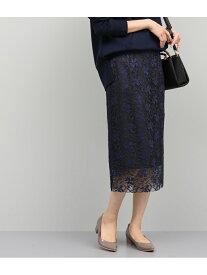 【SALE/50%OFF】ROPE' マロウ刺繍レースタイトスカート ロペ スカート スカートその他 ネイビー イエロー【送料無料】