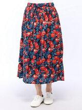 木の実柄スカート