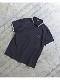 BEAMS MEN FRED PERRY × BEAMS / 別注 ダブルカラー ポロシャツ 20SS ビームス メン カットソー ポロシャツ ブルー ブラック【送料無料】