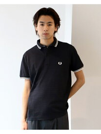 BEAMS MEN FRED PERRY * BEAMS / 別注 Double Collar Polo Shirt ビームス メン カットソー ポロシャツ ブラック ブルー【送料無料】