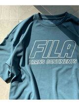 TRANS CONTINENTS JET LABEL × FILA プリントTee