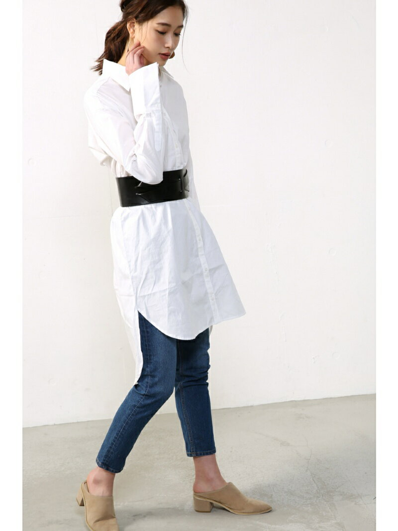 【SALE/50%OFF】AZUL by moussy デザインロングシャツワンピース アズールバイマウジー ワンピース【RBA_S】【RBA_E】