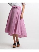 リネン混シャンブレースカート