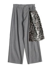 SHADOW JQ FUR APRON PANTS