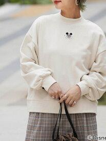 【SALE/50%OFF】179/WG 【WEB別注】ディズニーキャラクター裏毛スウェットプルオーバー イチナナキューダブリュジー カットソー スウェット ホワイト グレー