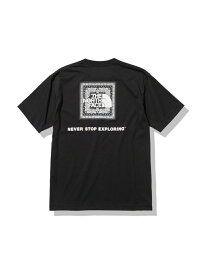 THE NORTH FACE THE NORTH FACE BANDANA SQUARE LOGO TEE アトモスピンク カットソー Tシャツ ブラック【送料無料】