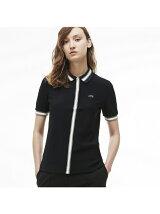 (W)フロントストライプポロシャツ(半袖)