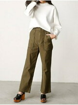 WIDE STRAIGHT MILITARY PANTS