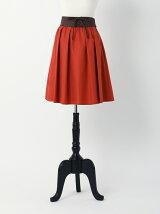 編上げベルト付きカラースカート