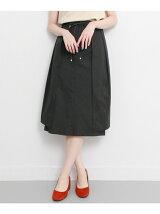 タックプリーツ変形スカート