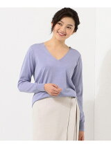 Hi Twist Silk Cotton Vネック ニット