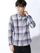 綿テンセルCHシャツL/S