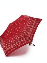 EH63 レース柄スカラップ折りたたみ傘(雨傘)