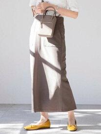 【SALE/10%OFF】coen 【WEB限定】カラーペンシルスカート(カラースカート/タイトスカート/ロングスカート / ストレッチ)# コーエン スカート タイトスカート グレー ブラック ベージュ【送料無料】