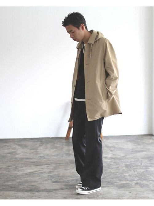 Traditional Weatherwear × BEAMS / 別注 DERBY HOOD ステンカラーコート