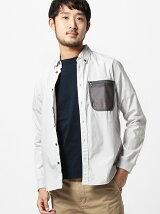BEAMS / メッシュ ポケット シャツ