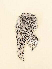 GLOBAL WORK (W)シフォンチビスカーフ グローバルワーク ファッショングッズ スカーフ/バンダナ オレンジ グレー ネイビー ベージュ ブラウン ホワイト
