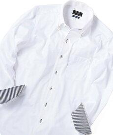 MEN'S BIGI 【フィールドセンサー】ジャージーシャツ メンズ ビギ シャツ/ブラウス 長袖シャツ ホワイト ブルー【送料無料】