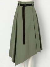 COTTON TWIL WRAP SKIRT