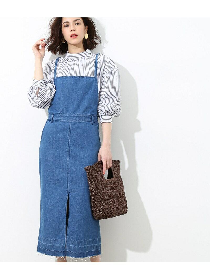 【SALE/30%OFF】ROPE' mademoiselle デニムジャンパースカート ロペ パンツ/ジーンズ【RBA_S】【RBA_E】【送料無料】