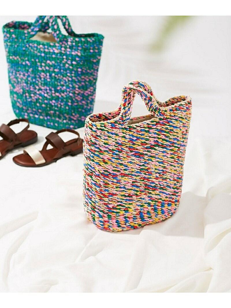 【SALE/50%OFF】Liberty Bell Mix color basket bag ナノユニバース バッグ【RBA_S】【RBA_E】【送料無料】