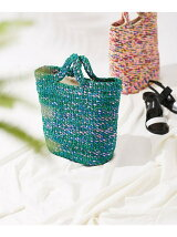 Mix color basket bag