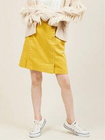 The Virgnia コーデュロイミニスカート ザ ヴァージニア スカート ミニスカート イエロー ピンク ブルー【送料無料】