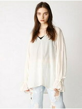 RIBBON SLEEVE VOLUME SHIRT