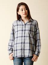 《WEB限定大きいサイズ》ワイドリラクシングシャツ《POLKA》