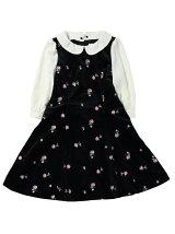 ラブローズ刺繍ベロアワンピース / mille fille closet