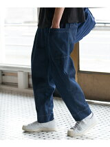 Bulky Wide Denim Pants