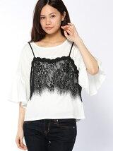 Tシャツ&レースキャミセット