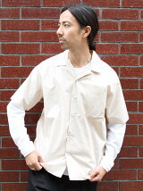 ボックスシルエットオープンカラーシャツ