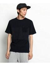 【WEB限定】インディゴ切替ポケットTシャツ