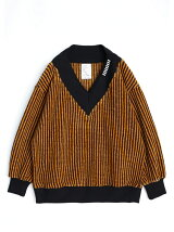 MOLE STRIPE WIDE RIB PULL-OVER