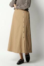 【SALE/50%OFF】ikka サイドボタンAラインスカート イッカ スカート フレアスカート ベージュ グリーン ホワイト