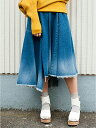【SALE/20%OFF】loaf デニムアシンメトリースカート オズモシス スカート【RBA_S】【RBA_E】【送料無料】