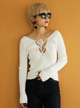 2way Lace-up Knit