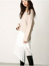 LACE IRREGULAR SKIRT