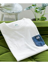 Lee×DOORS-natural- DENIM POCKET T-SHIRTS