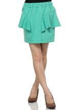 サイドペプラムカットスカート