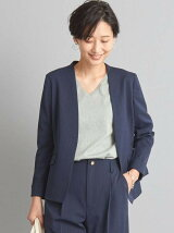 【WORK TRIP OUTFITS】★WTO BC メランジ ノーラペル ジャケット