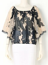 CHIFFON LACE EMBROIDERY BLOUSE